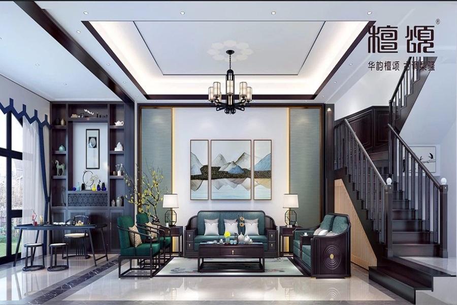 极简新中式风格 · 复式平层 | 家,以和为贵,人 以和为善