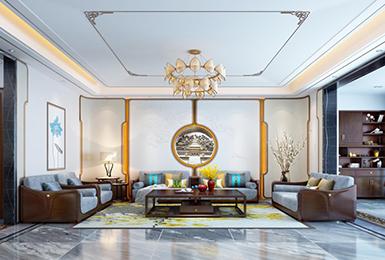 新中式风格 · 大平层   时尚雅致的逍遥空间