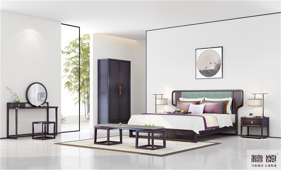 清雅空间丨倚枕醉眠寻清梦,极简新中式家具
