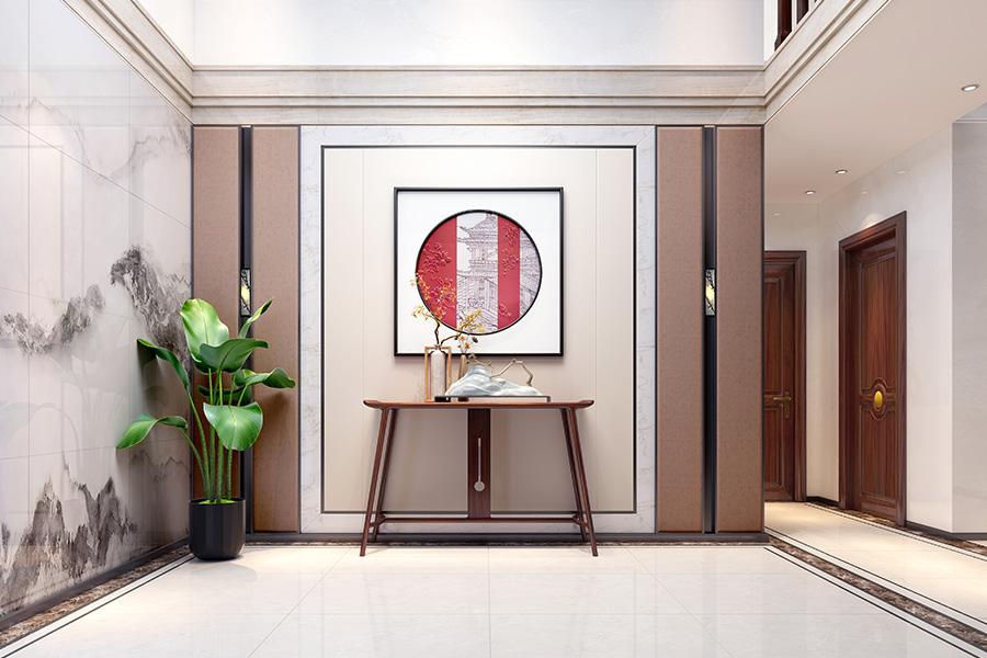 新中式风格 · 别墅居家案例——习习微风入小窗