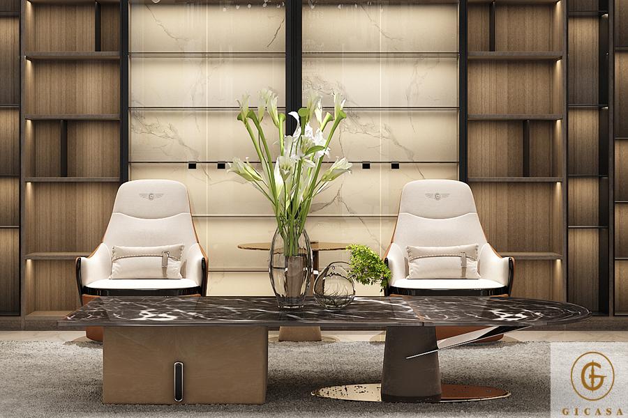 现代轻奢风格居家案例·平层丨一个充满现代艺术气息的家